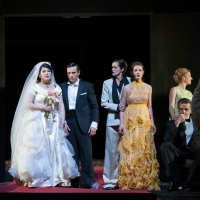 – Anna Niedbala, Sergey Romanovsky, Emily Righter, Laura Nicorescu und Chor © Christina Canaval