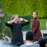 – Mirga Gražinyte-Tyla, Meredith Hoffmann-Thomson und Kinderchor © Anna-Maria Löffelberger