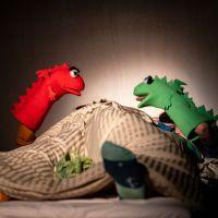 – Böser Drache (rot) und Guter Drache (grün) © Tobias Witzgall