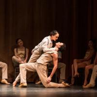 – Valbona Bushkola und Lucas Leonardo, Ensemble © Tobias Witzgall / SLT