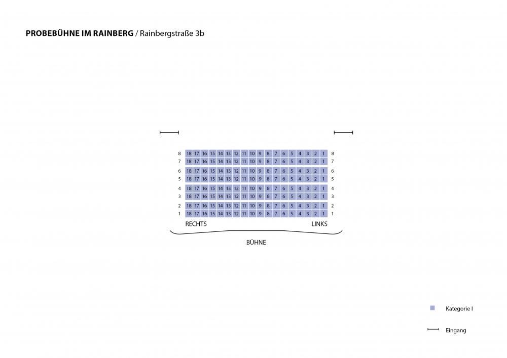 Saalplan Probebühne Rainberg