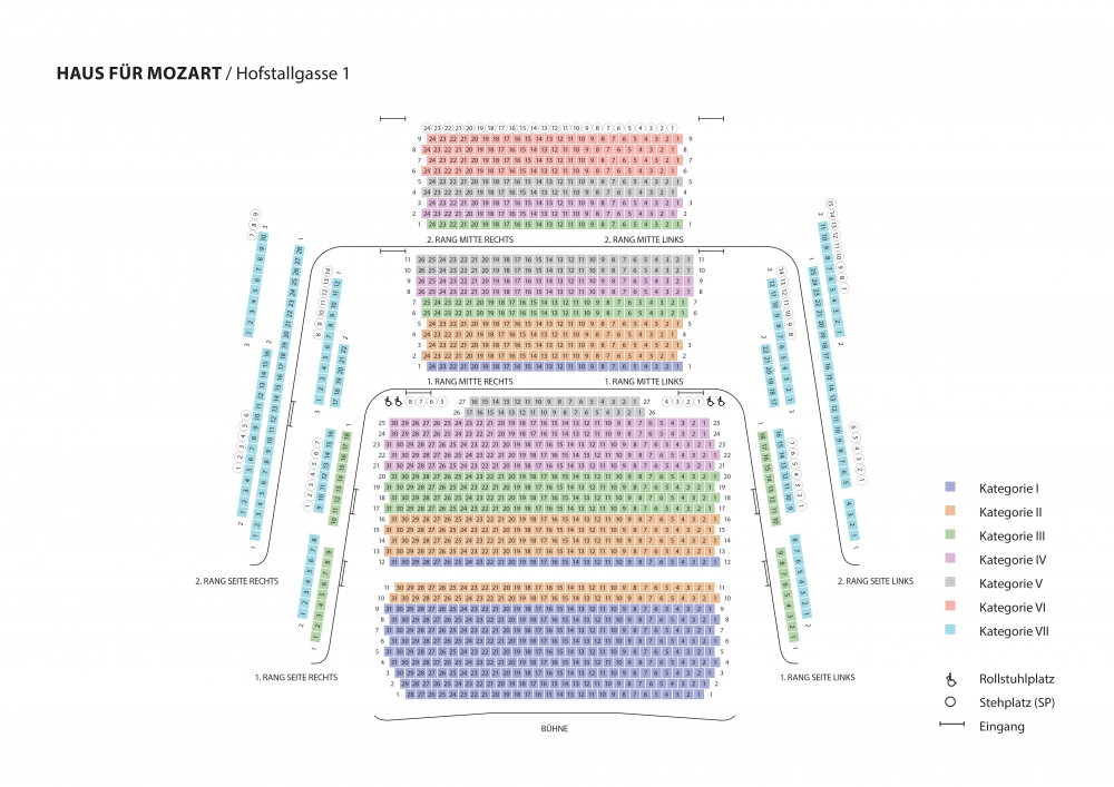 Saalplan Haus für Mozart
