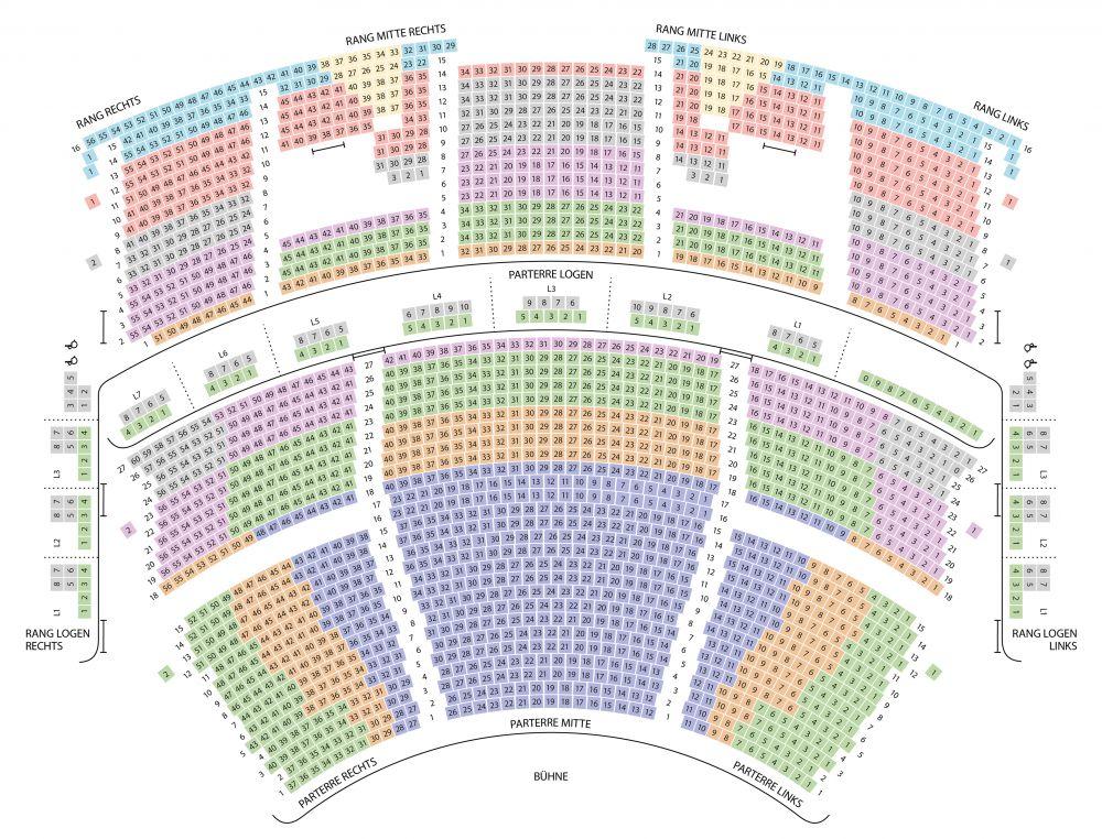 Saalplan Großes Festspielhaus